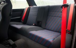 RED SEATBELTS for BMW E30 S14 S50 M3 Cecotto  M Power M Technik and All BMW