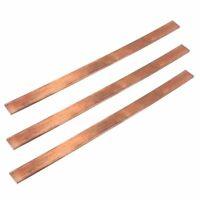 99% reine KupferStreifen Flachstange T2 Cu Metall Kupfer Blech 3x15x250mm