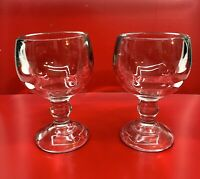 """2 Margarita Glasses Super Thick Extra Large each holds 16 ounces, 7"""" tall"""
