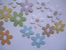 28 RAINBOW DAISY EMBELLISHMENTS ~DIE CUTS ~ FLOWERS DAISIES SCRAPBOOKING