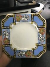 1930's Art Deco Sandwich Dish + 4 small plates Horse & Carriage
