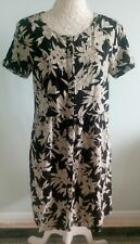 River Island  Size 12 Black Floral Buttons down the middle