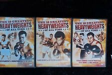 The Ten Greatest Heavyweights Of All Time, 3 volume Dvd box set 2011, sports,
