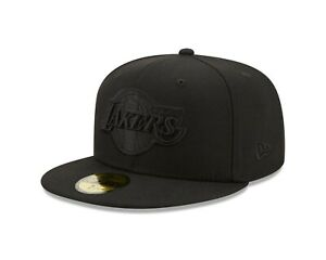 Los Angeles Lakers New Era Color Pack Black & Black 59FIFTY Fitted Hat