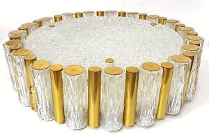 Kaiser Leuchten Eisglas Decken Lampe Pendel Leuchte Mid Century