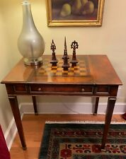 """32"""" Cherry Antique Chess and Backgammon Game Table"""