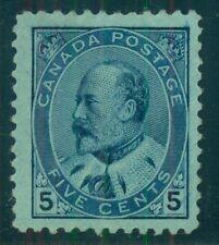 CANADA #91  5¢ blue, unused no gum, VF Scott $220