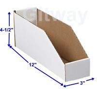 "5 x 12 x 4 1//2/"" Corrugated Cardboard Open Top Storage Parts Bin Bins Boxes Depth"