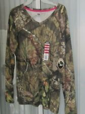 NWT Mossy Oak  Long Sleeve T Shirt Camouflage Hunting WOMENS  XXL V-Neck