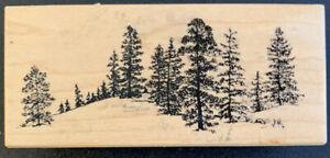 PSX F-1550 Forest Trees Landscape Rubber Stamp