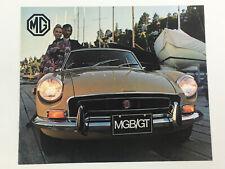 1972 MG MGB GT Sales Brochure Booklet Old Original Catalog book
