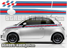 Fiat 500 side racing stripes 049 Martini style decals vinyl graphics stickers