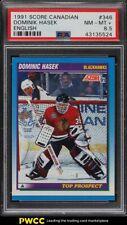 1991 Score Canadian English Dominik Hasek ROOKIE RC #346 PSA 8.5 NM-MT+