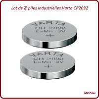 2 piles boutons CR2032 lithium Varta Industrielles, livraison rapide et gratuite