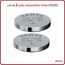 2 pilas botones CR2032 litio Varta Industrial