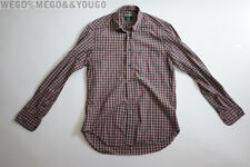 Gitman Bros Vintage Mens Cotton Plaid Oxford Shirt USA Size M Medium