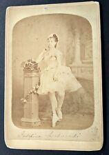 1860s Unknown Ballet Dancer Josefine Lusuaedi? Havana Cabinet Photo by O'Reilly