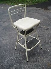 Vintage Retro White Cosco Kitchen Chair Flip Up Seat Step Stool Project