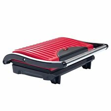 Panini Press Grill Sandwich Maker Nonstick Indoor Electric Healthy Toaster Red
