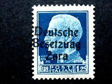 "ITALIA REGNO OCCUPAZIONE ZARA ERRORE ""BESETZUAG"" L 1,25 1943 MNH** CV € 7.000"