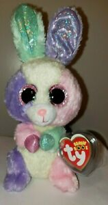 """Ty Beanie Boos - BLOOM the 6"""" Easter Bunny Rabbit - MINT with MINT TAGS"""