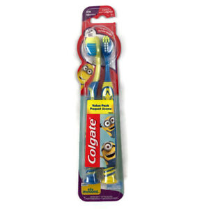 Colgate Kids MINIONS Toothbrush Extra Soft (2) Brush Value Pack