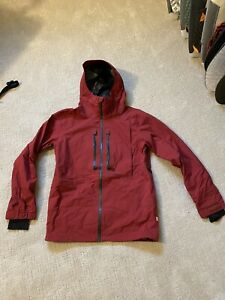 volcom guide Gore-Tex jacket snowboard mens brick red size large