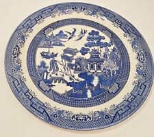 """Vtg Churchill Blue Willow 13"""" Round Chop Plate Serving Platter Made in England"""