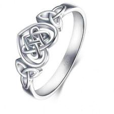 925 Sterling Silver Twist Heart Celtic Simple Fashion Ring  Women Jewelry Gift