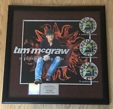 "TIM McGRAW RIAA Certified Multi-Platinum 2000 Sales Award ""A Place In The Sun"""