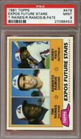 1981 topps #479 TIM RAINES montreal expos rookie card PSA 9