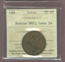 R3605.Canada token Breton #997 Lees 24 ICCS VF-20 was $95. can
