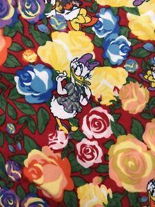 NWT LuLaRoe Disney Leggings OS One Size Daisy Duck Rose Floral Flower 49968