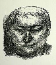GERHARD KETTNER - Selbstbildnis von vorn - Lithografie 1964