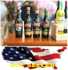 4 x 1/6 Baileys Irish Cream wine Dollhouse Miniature Bar Drink Decor Hot Toys US