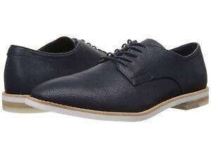 Men Casual Shoes Calvin Klein Agusto Oxfords Diamond Leather Navy F1229
