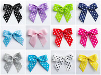 5cm Polka Dot Grosgrain Bows (Self Adhesive) - 12 pack Crafts Wedding Favours
