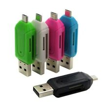 5 Colors 2 in 1 USB OTG Card Reader Universal Micro USB OTG TF/SD Card Reader Ph