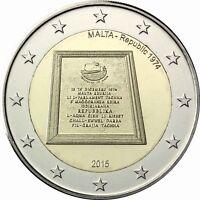 Malta 2 Euro 2015 Parlamentarische Republik seit 1974 bankfrische Gedenkmünze