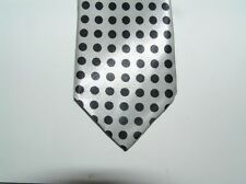silver skinny tie bff black dot necktie   FREE SHIP dad brother bf holiday