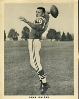 Johnny Unitas Team Issued 1960`s Signed Jsa Certed 8x10 Photo Autograph