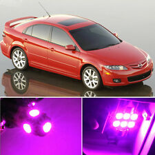 10 x Premium Hot Pink LED Lights Interior Package Kit for Mazda 6 2003-2008