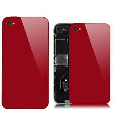 Red Glass Back Screen Replacement Rear Case Cover Assembly for iPhone 4S