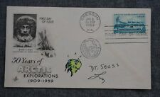 DR. SEUSS Hand Drawn GRINCH - SIGNED 1959 First Day Cover Envelope