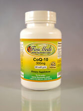 CoQ-10 coq10 co-enzyme 300mg, antiaging, cardio aid - 60 soft gels. Made in USA