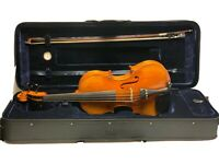 "Viola 16"" CBA-210 Serie.  solid wood flamed hand-carved"