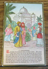 Vintage Postcard Religious IV Commandment Remember the Sabbath Day