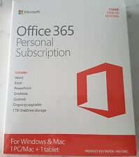 Microsoft Office 365 Personal Subscription for 1 PC / Mac + Tablet Card 2016