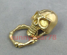 Solid Brass Leathercraft Skull rivet stud Punk screw back Conchos Wallet buckle