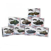 1/72 4D 8pcs Assemble Tank Plastic Model Kit The First Shot 4D Tank